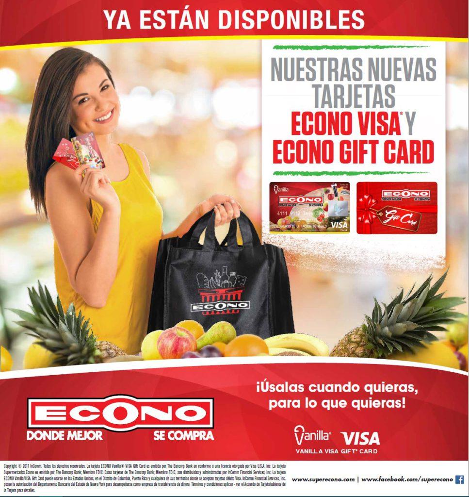 Promoción de Econo Visa y Econo Gift Card