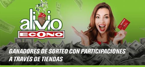 anuncio de ganadores de sorteo Alivio Econo