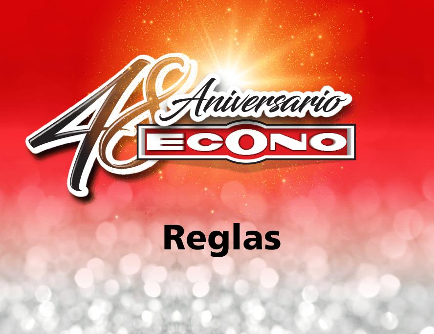 REGLAS CONCURSO 48 ANIVERSARIO DE SUPERMERCADOS ECONO
